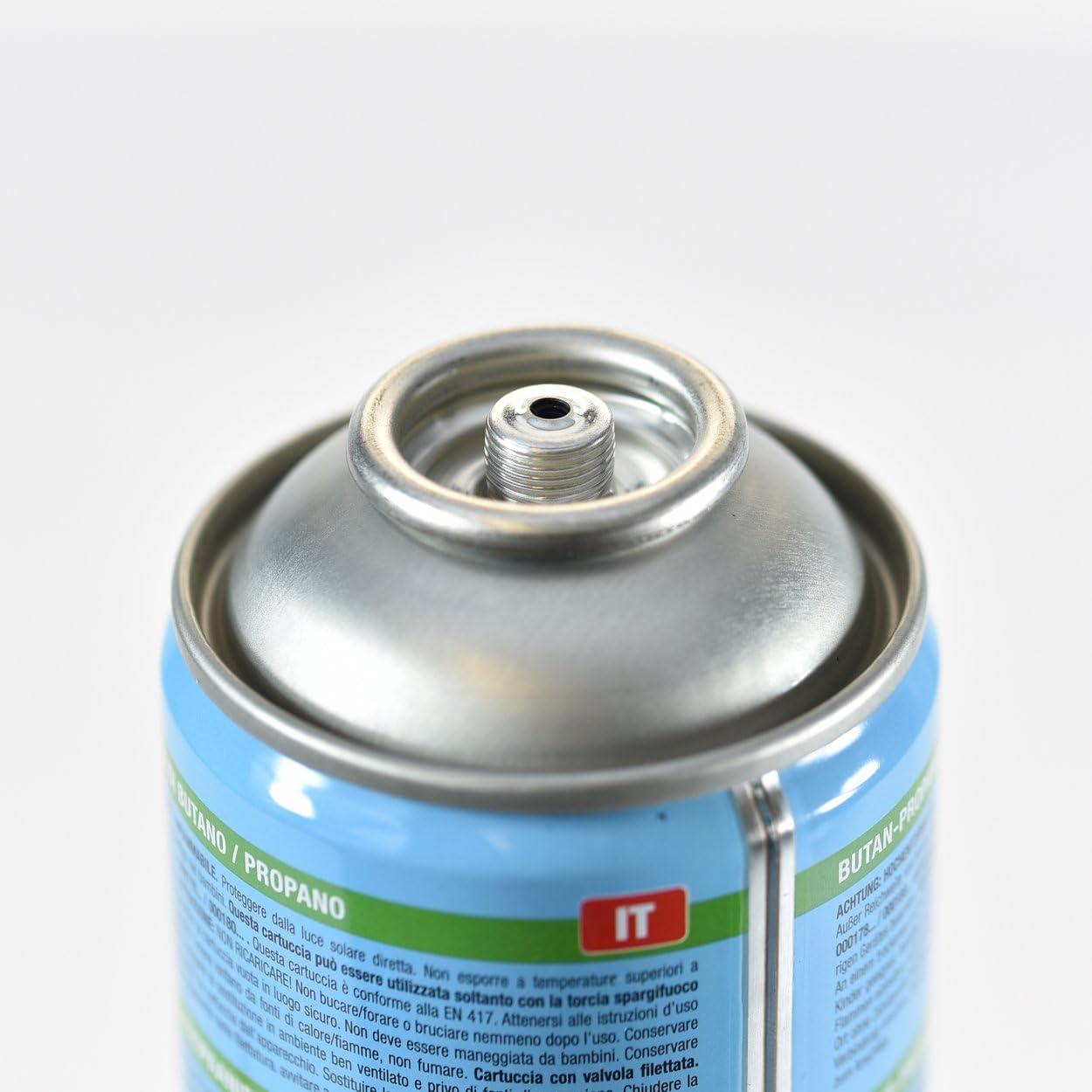 24 x Gas cartucho en417 330 g 600 ml rosca malas hierbas para ...
