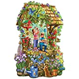 Bits and Pieces - 750 Piece Shaped Jigsaw Puzzle for Adults - Wishing Well Garden - 750 pc Flowers and Butterflies Jigsaw by Artist Liz Goodrick-Dillon