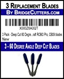 3 Pack - Deep Cut 60 Degree Angle Replacement