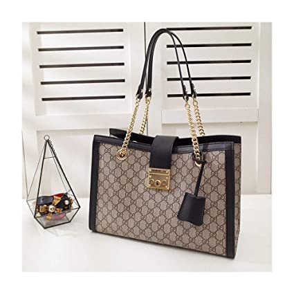 4d876d655ce1 479197 podlock Medium Shoulder Bag for Womens Handbag Designer Fashion  Single Shoulder Bags -Canvas Black