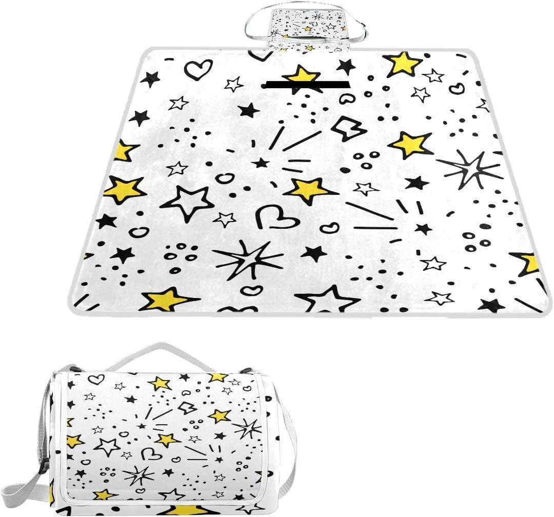 XINGAKA Coperta da Picnic Tappetino Campeggio,Teschi di Fiori Senza Giunte di Vettore,Giardino Spiaggia Impermeabile Anti Sabbia 17