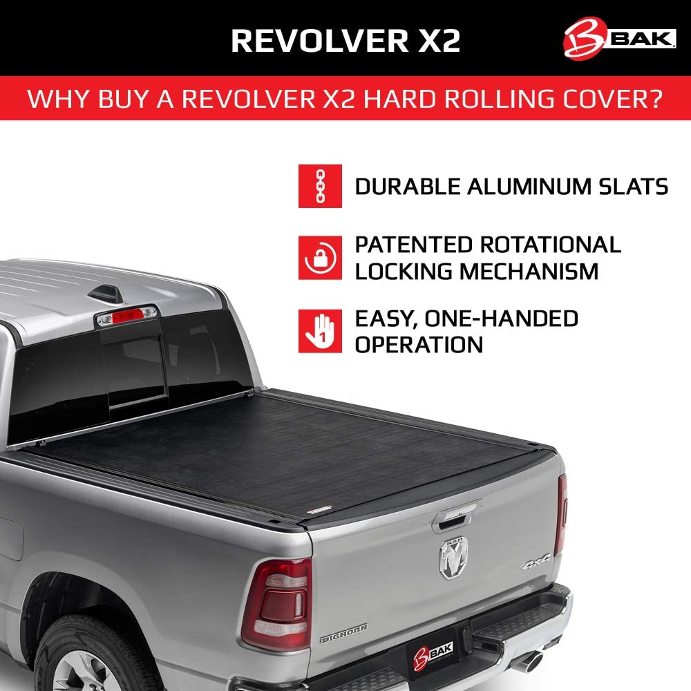 Amazon Com Bak Revolver X2 Hard Rolling Truck Bed Tonneau Cover 39409t Fits 2007 2021 Toyota Tundra W Oe Track System 5 7 Bed 66 7 Automotive