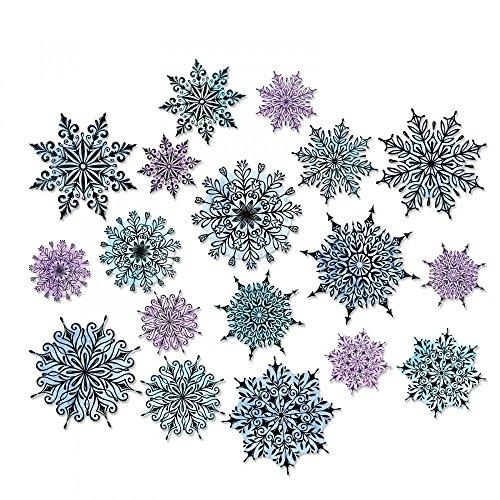 Sizzix SIZ662436 Swirly Snowflakes Tholtz Framelits - Snow Swirly