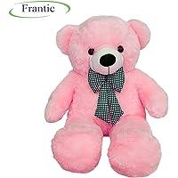Frantic Premium Quality Huggable Teddy Bear, Plush Stuffed 90 cm (3 Feet) Baby Pink Color