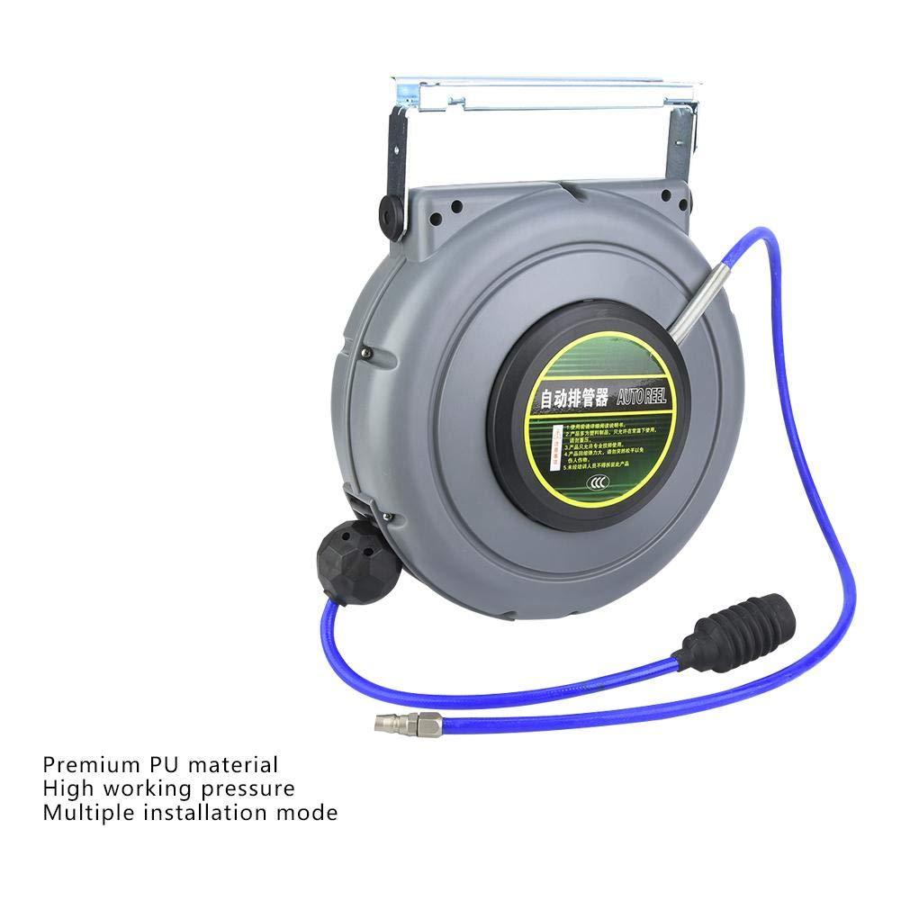 Enrouleur de tuyau dair dunit/é centrale mont/é sur le mur escamotable de connexion escamotable automatique 12m 1//4  BSPT