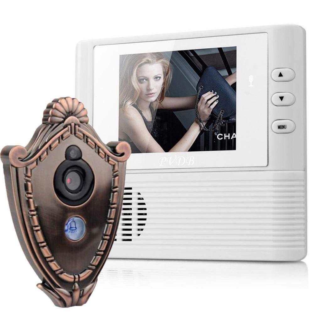 FidgetKute 2.8 Inch LCD Digital Door Camera Doorbell Peephole Door Viewer Eye Home Security