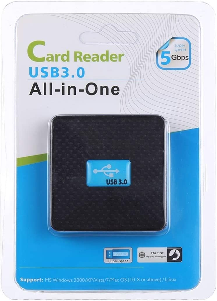 Computer HUB HUFAN USB 3.0 All-in-1 Card Reader Support CF//SD//TF // M2 // XD Card Color : Black Super Speed 5Gbps White