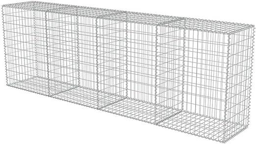 Jaula de malla de acero galvanizado, jaula de piedra, jaula metálica de jardín exterior, 300 x 50 x 100 cm, hasta 1400 kg/m3: Amazon.es: Jardín