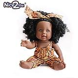 Nice2you Poupée Afro-Américaine Réalistes 12 Pouces Bébé Poupées pour Enfants Jouets pour Enfants