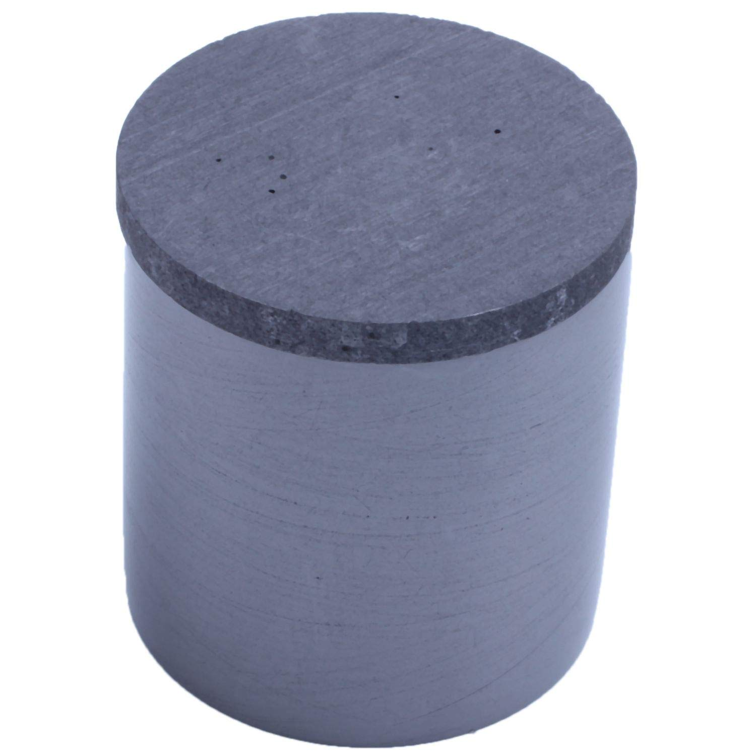 Vaorwne 1x High Purity Graphite Casting Melting Crucible for Gold/&Silver with Lid Black