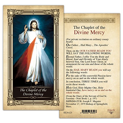 The Chaplet of the Divine Mercy Laminated Holy Card - Pack of 25