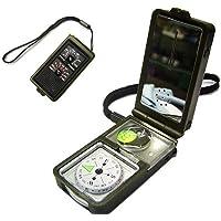 Aseun Outdoor Multifunctionele 10 in 1 Militaire Camping Survival Kompas Met Hygrometer Led Licht Thermometer vergrootglas fluitje Flint Fire Starter