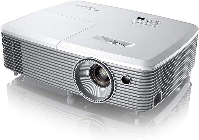 Optoma Eh400 Dlp Projektor 1080p Full Hd 4000 Lumen 22 000 1 Kontrast 3d Zoom 1 1x Weiß Heimkino Tv Video