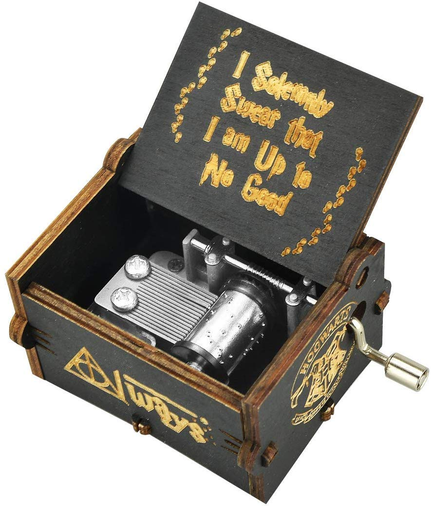 PATPAT® Antique Carved Wood Music Box Retro Ancient Hand Crank Music Case Birthday Gifts Ornament Decoration (B07SZZTL48) Amazon Price History, Amazon Price Tracker