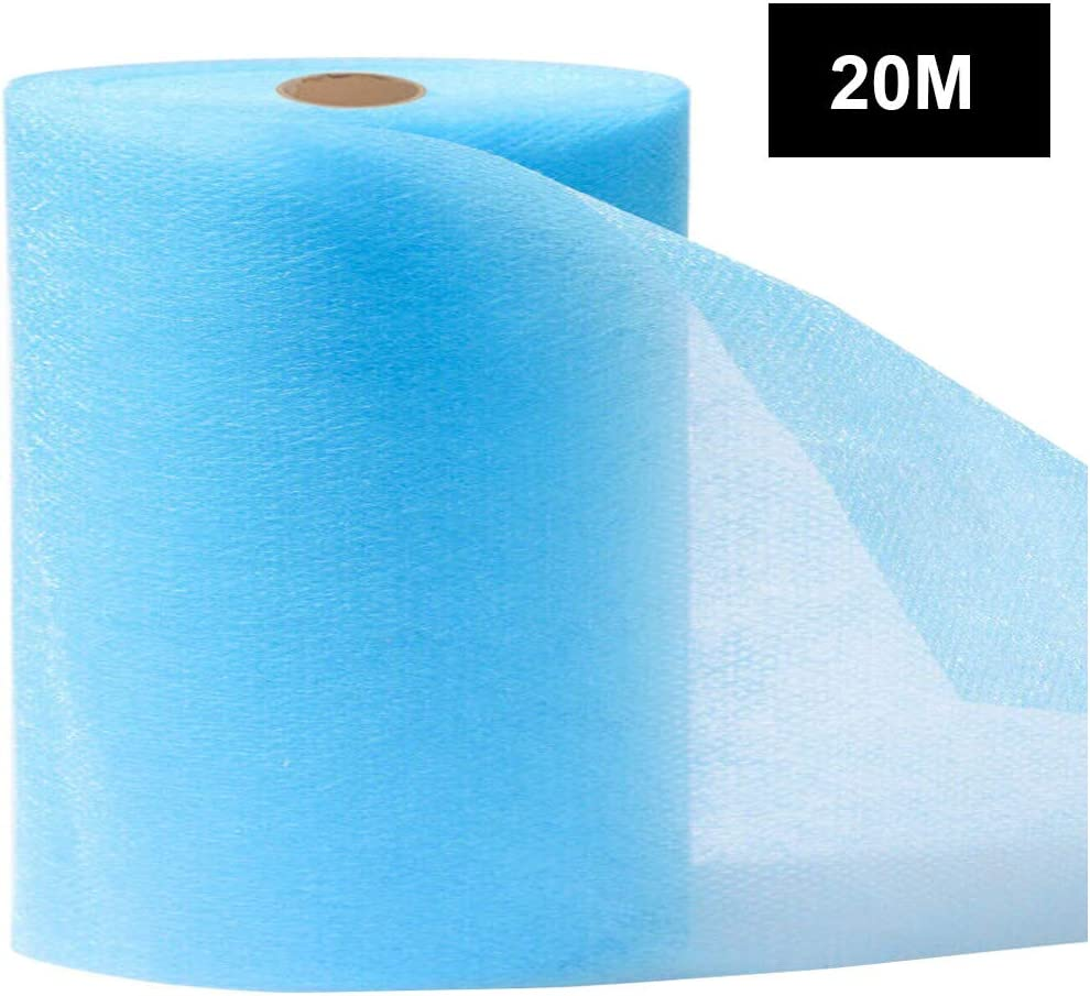 fang FANS Waterproof Layer Fabric Blue, 10m Convenient and Practical DIY Making Accessories Waterproof Layer Cloth Non-Woven Fabric DIY Breathable Dustproof Anti Fog Fabric