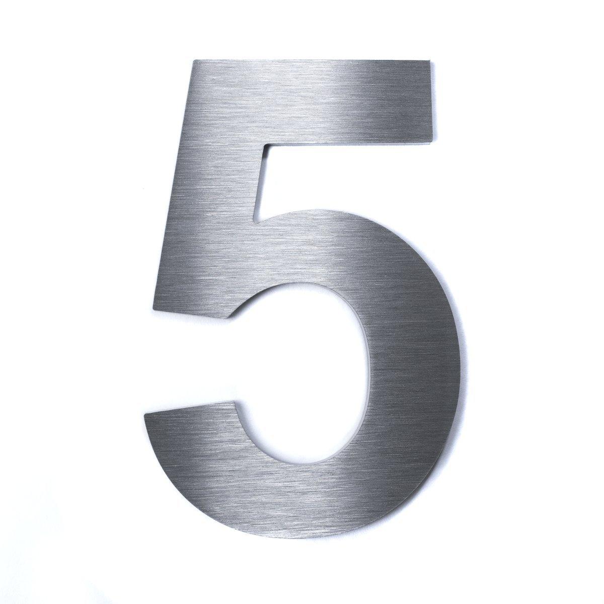 Materialst/ärke Hochwertige Edelstahl V2A HausnummerKlassisch grob geschliffen massiv /& rostfrei H/öhe 2mm 1 200mm