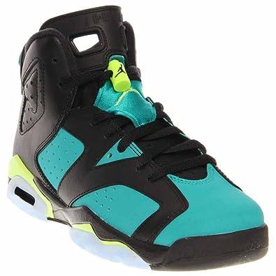 hot sale online e97bb 303e9 Amazon.com   Nike Air Jordan 6 Retro GG Black Turbo Green (543390-043) Boys  Shoes   Sneakers