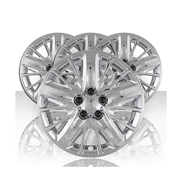 Upgrade-Your-Auto-Set-of-Four-18-Chrome-Hubcap-Wheel-Covers-for-2014-2017-Chevy-Impala-Screw-on