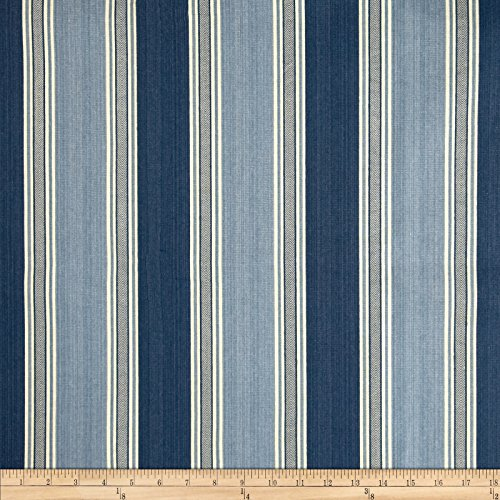 WAVERLY Spotswood Stripe Porcelain Fabric by The Yard,
