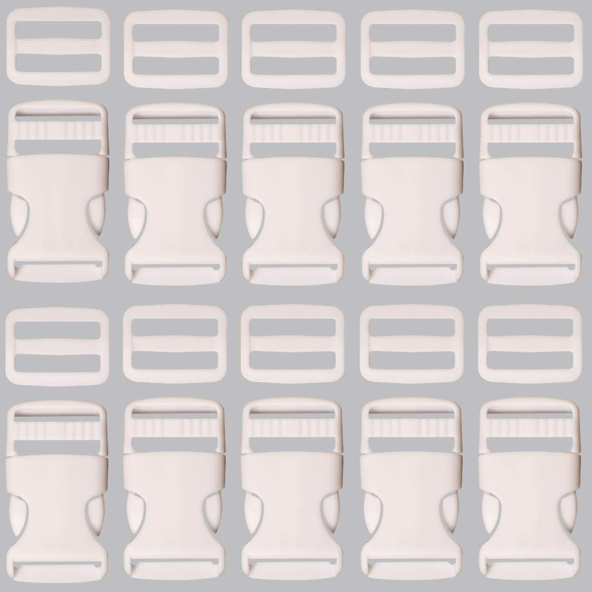 Dog Collor Strap Webbing Hardware CK-027 Plastic Buckle 5 Pieces 12 inches Release Buckles