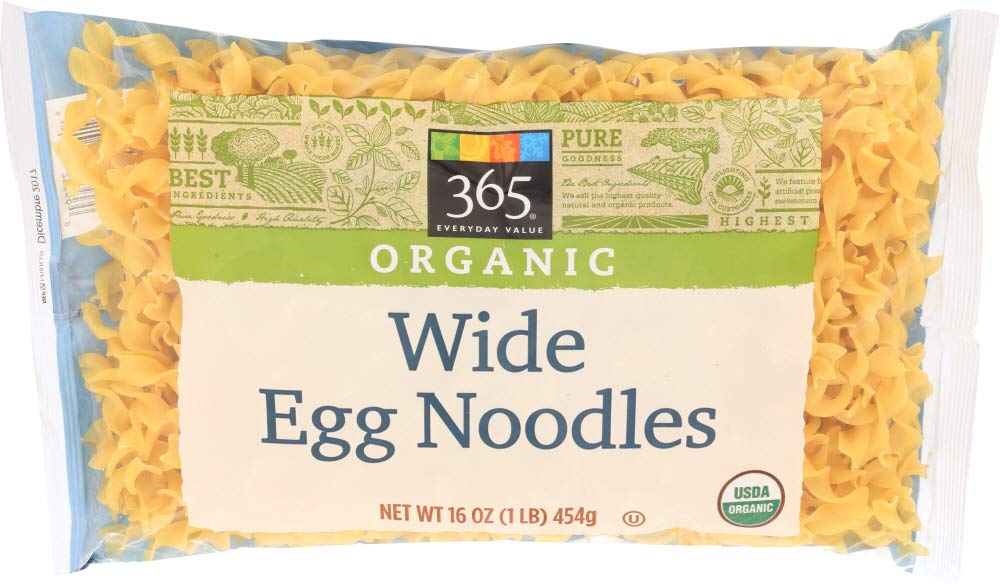 365 Everyday Value, Organic Wide Egg Noodles, 16 oz
