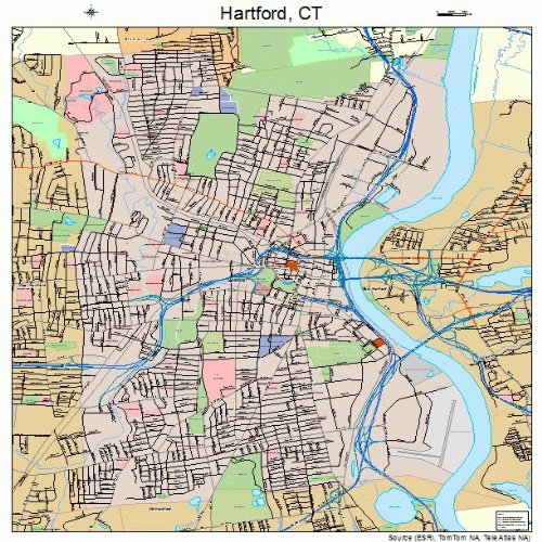 Amazon.com: Large Street & Road Map of Hartford, Connecticut ...