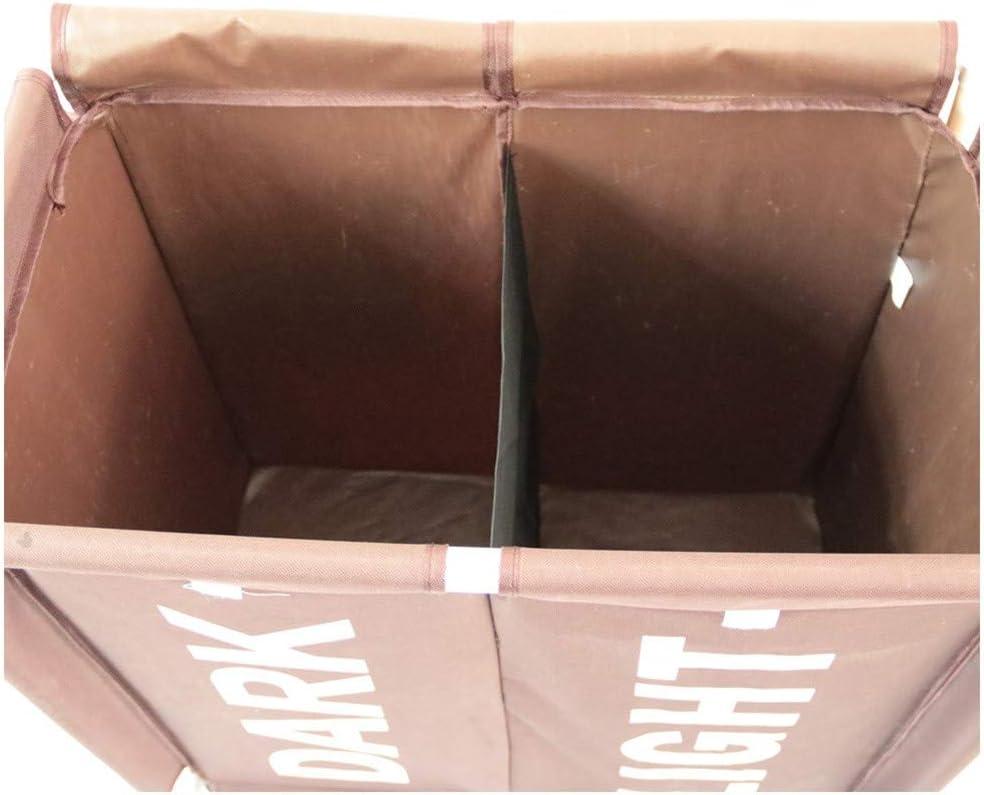 68cm ZYDJ Doble Compartimento Cesto para La Colada Almacenamiento De Ropa Sucia Cesta De Almacenamiento Cesto Ropa Sucia con Ruedas Cesta Esquinera para Colada con Tapa,58 35