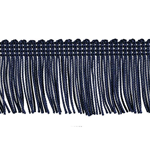 Decorative Trimmings 100/% Rayon Chainette Fringe Galaxy Navy 2 x 9 yd