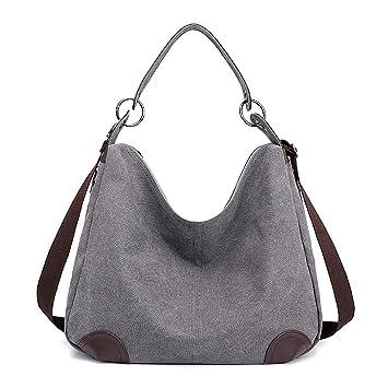 1b65260e5b06f Huttoly Canvas Handtasche Damen Canvas Tasche Umhägetasche Schultertasche  Crossbody Bag Tasche Shopper Beuteltasche