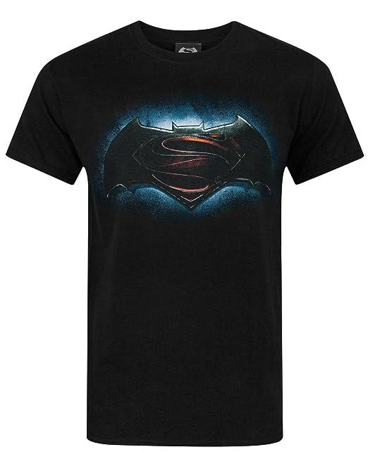 Official Batman v Superman - Dawn of Justicia Logo - Camiseta Hombre kxHSbyN
