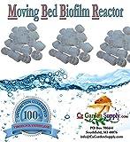 [K1 MICRO] Filter Media PREMIUM GRADE Moving Bed Biofilm Reactor (MBBR) for Aquaponics • Aquaculture • Hydroponics • Ponds • Aquariums by Cz Garden Supply (3.5 Cubic Feet)