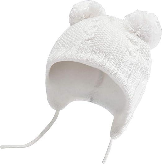 Bestjybt Baby Hat Cute Bear Infant Toddler Earflap Fleece Lined Beanie Warm Caps for Fall Winter