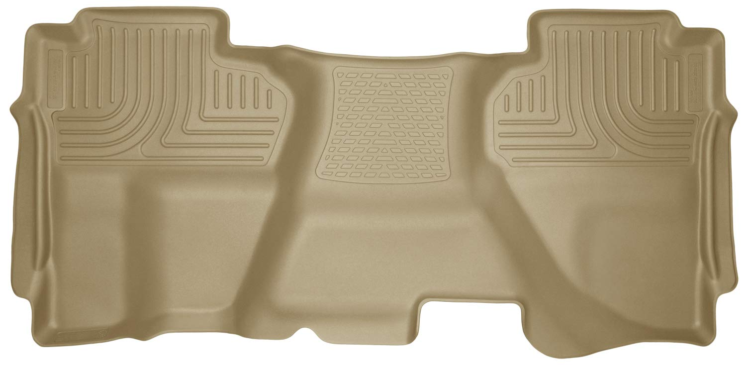 Black Husky Liners Custom Fit Front and Second Seat Floor Liner Set for Select Chevrolet Silverado//GMC Sierra Models