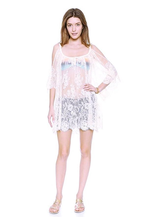 Vococal - Camisetas de Crochet de Encaje Floral Transparente / Tapas Sueltas Blusas de Manga Larga para Otoño Verano (Blanco,L): Amazon.es: Juguetes y ...