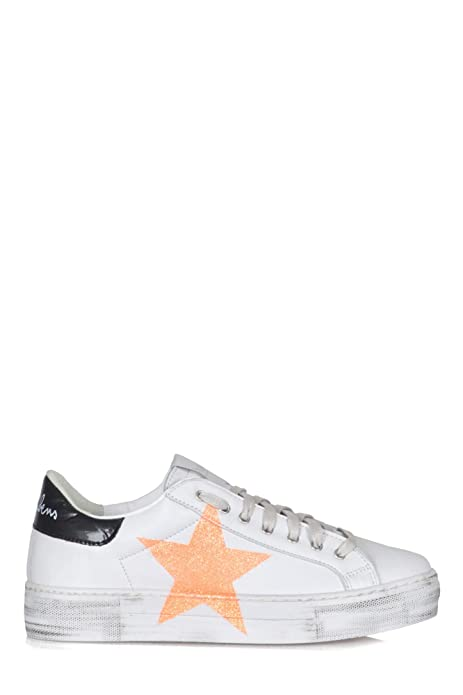 newest 87db9 196c2 NiRa Rubens - Sneakers Donna Bianco/Arancione NIST52 Martini ...
