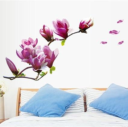 JiaMeng Pegatina de Pared, Elegante Hoja desprendible 3D Love Etiqueta de la Pared calcomanías de Vinilo de Arte decoración del Dormitorio (Multicolor ...