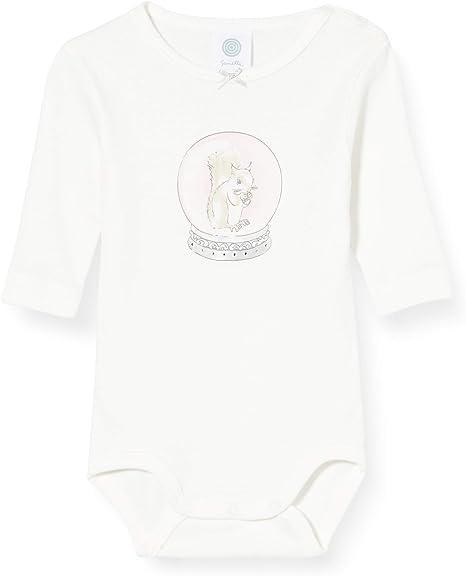 Sanetta Baby/_Girls Langarmbody Broken White Toddler Underwear Set