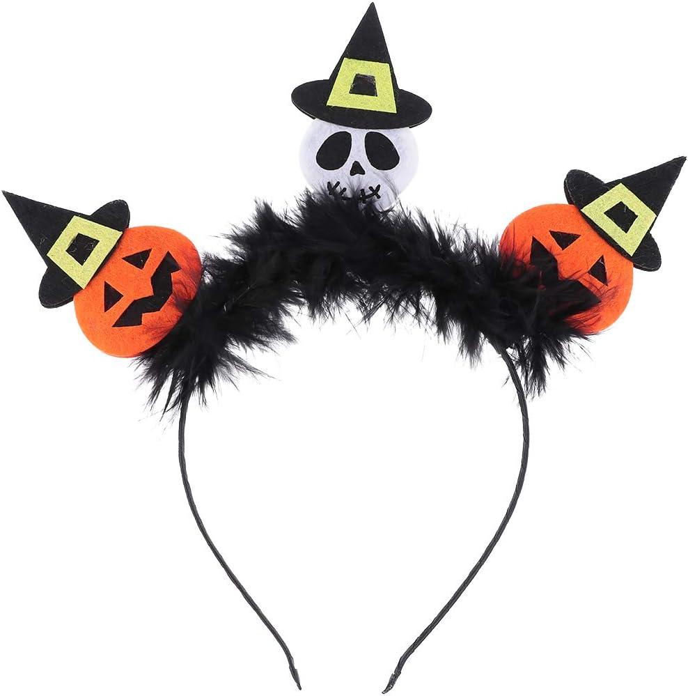 Amosfun Diadema de calabaza Novedad Sombrero de bruja de Halloween ...
