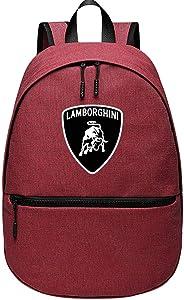 Lam-bor-ghini-Symbole Unisex Primary Secondary School Shoulder Pack Bags Backpack Travel Laptop Schoolbag Boys Girls Bookbag