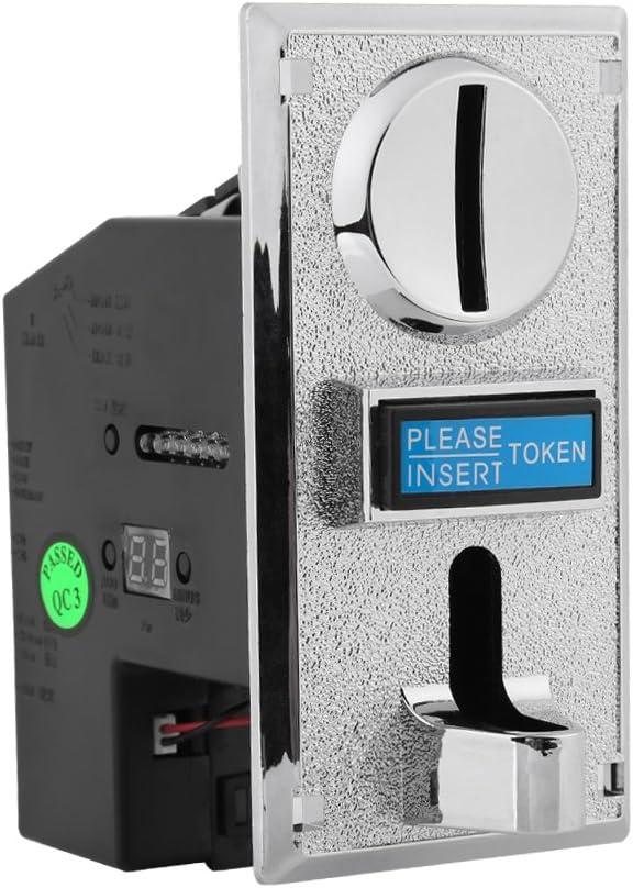 Fydun Ranura de selector de aceptador de Monedas Ranura de Moneda Selector de Monedas para máquina expendedora de Mecanismo de Juego de Arcade