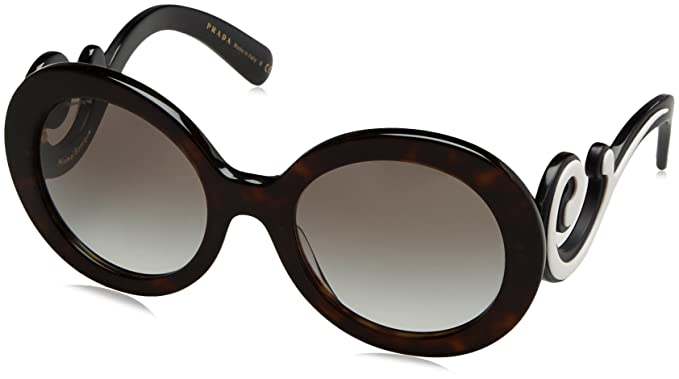 Prada Damen Sonnenbrille 0PR08TS 1AB1A1, Schwarz (Black/Gray), 55