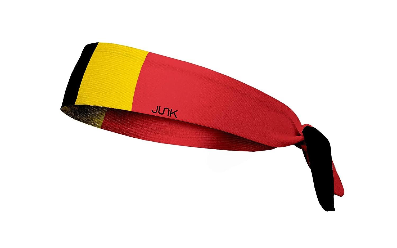 Unisex Adulto JUNK Brands Belgium Flag Flex Tie Headband Cinta de Pelo Amarillo