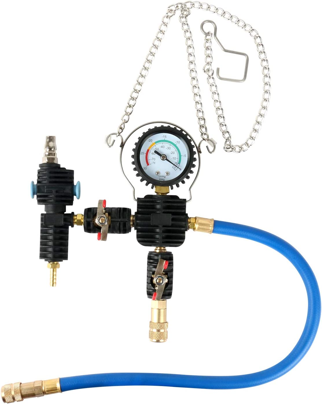 OIMERRY 28PCS Universal Radiator Pressure Tester for Vehicles Vacuum Type Coolant System Pressure Leak Tester Kit