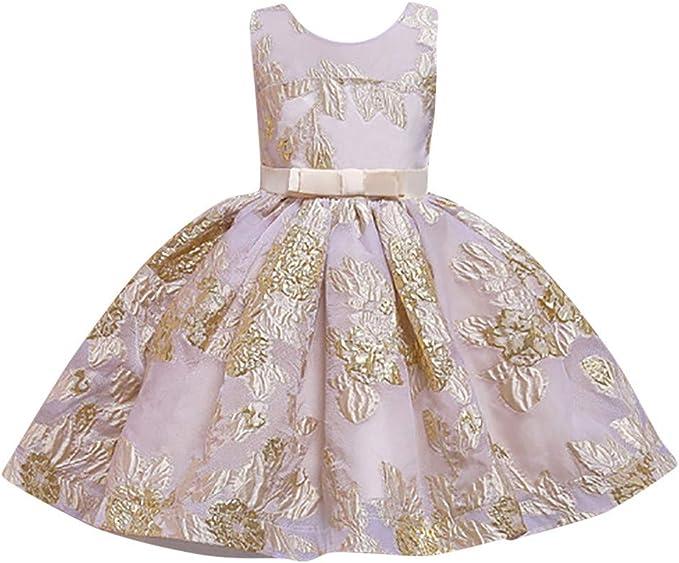 Baby Mädchen Prinzessin Kleid Blumenmädchenkleid mit Panties Taufkleid Festlich