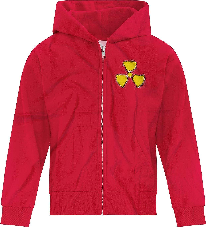 BSW Youth Girls Radioactive Nuclear Grunge Hazard Logo Zip Hoodie