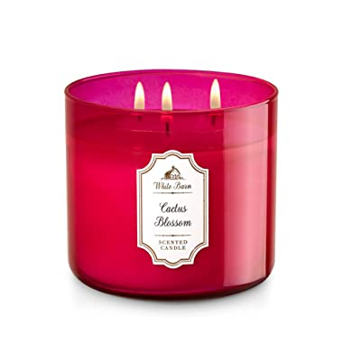 White Barn 3 Wick Candle 14.5 Ounce, Cactus Blossom