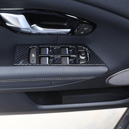 Color Name : Carbon Fiber HCHD Real Carbon-Faser-Art ABS-Auto-Fenster-Lift-Schalter Rahmen Trim Zubeh/ör for Alfa Romeo Stelvio 2017-2019 Linkslenker