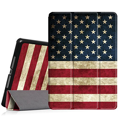 Fintie iPad Air Case- [Slim] Ultra Lightweight Stand  Protective Cover with Auto Sleep/Wake Feature for Apple iPad Air, US Flag (Best Slim Case For Ipad Air 2)