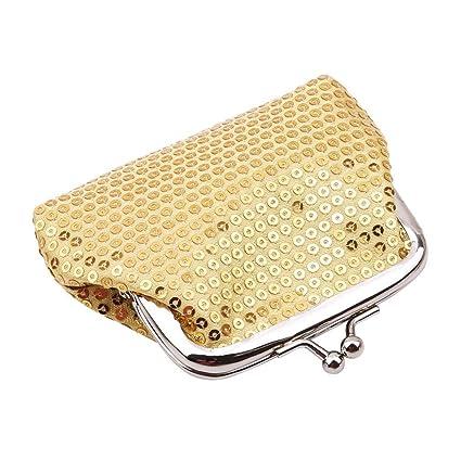 bf1a8c92b71c Amazon.com: GUAngqi Coin Purses Women Sequin Wallets Bags Buckle ...