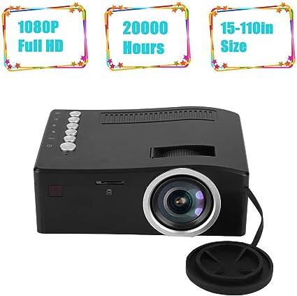 Diyeeni Mini proyector TFT LCD, 1080p Full HD Proyector de Video ...